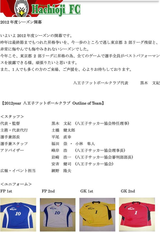 【八王子FC】2012概要